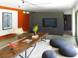 Pool House: modern Living room by +tongtong