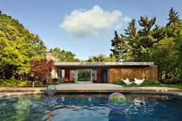 Pool House: modern Houses by +tongtong