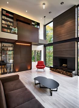 Smoky Quartz: modern Living room by KUBE Architecture