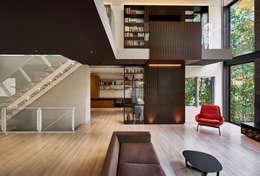 Гостиная в . Автор – KUBE Architecture