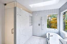 Smoky Quartz: modern Bathroom by KUBE Architecture