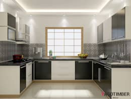 U   Shaped  Kitchen: modern Kitchen by Yagotimber.com