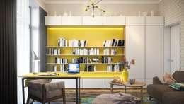 Рабочий кабинет: Рабочие кабинеты в . Автор – Zikzak Design Studio