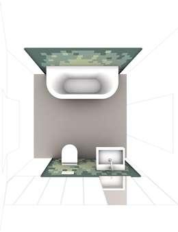 visualization bathroom: modern Bathroom by brandt+simon architekten