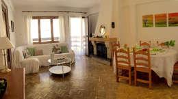Home Staging en vivienda de montaña: Salones de estilo rural de Noelia Villalba