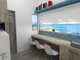 : Estudios y oficinas de estilo moderno por TAMEN arquitectura