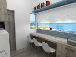 Oficinas de estilo moderno por TAMEN arquitectura