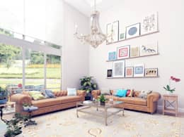 Salas de estar campestres por Ammar Bako design studio