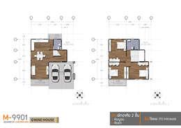 แบบ Floor Plan M9901:   by At Mind House