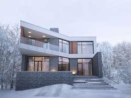 Дом в лесу: Дома в . Автор – премиум интериум