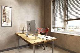 Квартира на основе современных американских интерьеров: Рабочие кабинеты в . Автор – Дарья Баранович Дизайн Интерьера