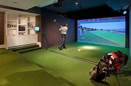 Golf Room: modern Media room by Douglas Design Studio