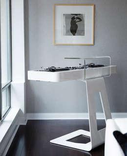 DJ Turntable: modern Media room by Douglas Design Studio