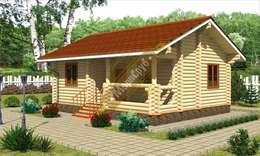 """Одноэтажный дачный дом с террасой """"Апрель"""": Дома в . Автор – Марисруб"""