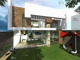 Casas de estilo moderno por ARCHITECKT