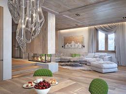 minimalistic Living room by премиум интериум