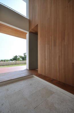 SKM03-HOUSE: 門一級建築士事務所が手掛けた廊下 & 玄関です。
