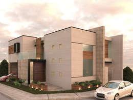 EXTERIOR: Casas de estilo ecléctico por 3030 ARQUITECTOS