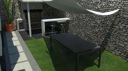 Jardines de estilo moderno por EMS interiorismo