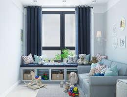Recámaras infantiles de estilo minimalista por OM DESIGN