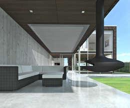 Overdekt Terras:  Terras door Lab32 architecten