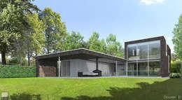 Landrover huis: moderne Huizen door Lab32 architecten