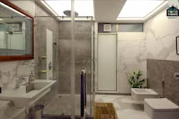 Luxurious Washroom: modern Bathroom by home makers interior designers & decorators pvt. ltd.