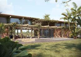 VeMa_Weekend-House: Casas rústicas por studiojordanovalota