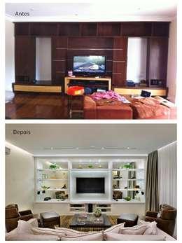Home Teather:   por Quitete&Faria Arquitetura e Decoração