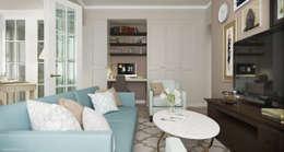 Дизайн квартиры на ВДНХ: Гостиная в . Автор – Sakharevich_interiors