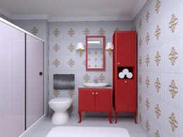Projekty,  Łazienka zaprojektowane przez Monarch Mutfak