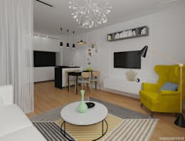 scandinavian Living room by Sakharevich_interiors