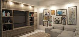 Salas / recibidores de estilo moderno por TAMEN arquitectura