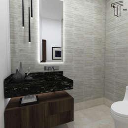 : Baños de estilo  por TAMEN arquitectura