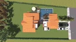 Vista Cubiertas: Casas de estilo rural por ARQUITECTO JUAN ANDRES GUTIERREZ PEREZ