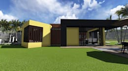 Casa Los Cerros: Casas de estilo moderno por ARQUITECTO JUAN ANDRES GUTIERREZ PEREZ