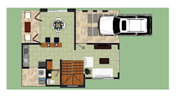 Conjunto Campestre ENTRECAÑOS: Casas de estilo rústico por ARQUITECTO JUAN ANDRES GUTIERREZ PEREZ