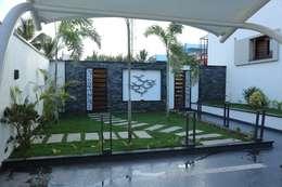 East garden: modern Garden by Hasta architects