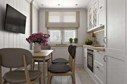 Квартира в скандинавском стиле: Кухни в . Автор – Дарья Баранович Дизайн Интерьера