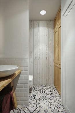 Квартира в скандинавском стиле: Ванные комнаты в . Автор – Дарья Баранович Дизайн Интерьера