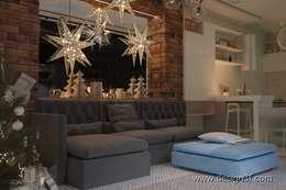 غرفة المعيشة تنفيذ студия Design3F