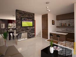 Salas / recibidores de estilo minimalista por HHRG ARQUITECTOS