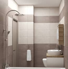 Yana Ikrina Design: eklektik tarz tarz Banyo