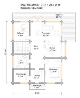 План 1-го этажа:  в . Автор – Open Village