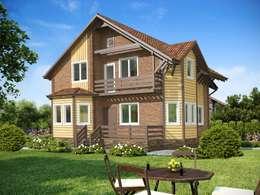 Вид спереди: Дома в . Автор – Open Village