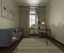 modern Study/office by Open Village