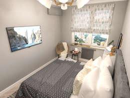 Dormitorios de estilo escandinavo por AlexLadanova interior design