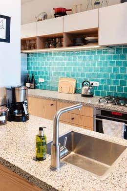 Amsteldijk: eclectische Keuken door Kevin Veenhuizen Architects