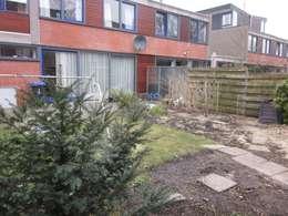 renovatie achtertuin omsloten in groningen zuid: moderne Tuin door GroenerGras Hoveniers