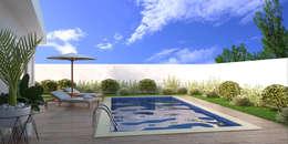 Piletas de estilo moderno por KC ARQUITETURA urbanismo e design